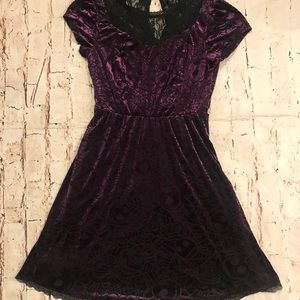 Disney Nightmare Before X-Mas Purple Velvet Dress